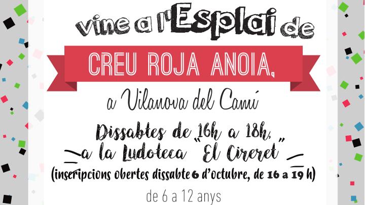 """Creu Roja Anoia proposa """"Dissabtes divertits"""" a Vilanova del Camí, l'esplai per a infants de 6 a 12 anys"""