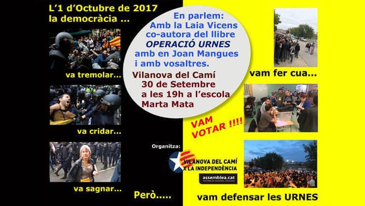 Vilanova X la Independència reviu els fets de l'1-0 amb un acte commemoratiu