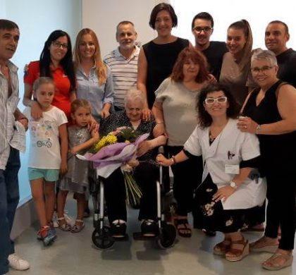 L'àvia vilanovina Francisca Martínez celebra el 101 anys