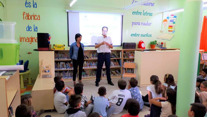 Inici del programa Cultura Emprenedora a l'Escola amb l'alumnat del Joan Maragall