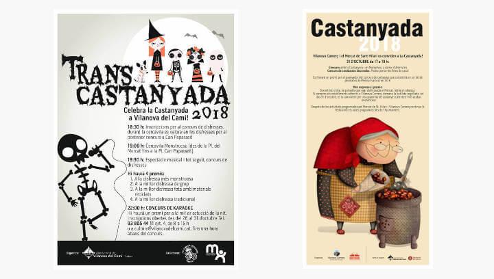 Àmplia oferta d'activitats per celebrar la Castanyada a Vilanova del Camí