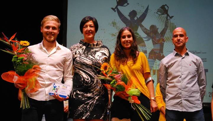 Premis a l'esforç i els mèrits en una festa que proclama Romans Carrillo i Laia Egea millors esportistes locals | MULTIMÈDIA