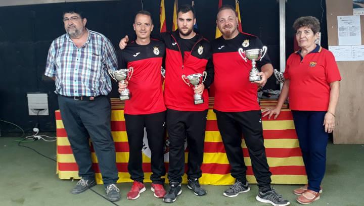 Una tripleta del Club Petanca Santa Lucía, tercera de Catalunya en el Campionat de clubs | ÀUDIO