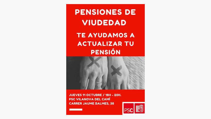 El PSC de Vilanova ofereix ajuda per emplenar l'imprès per demanar l'increment de la pensió de viduïtat