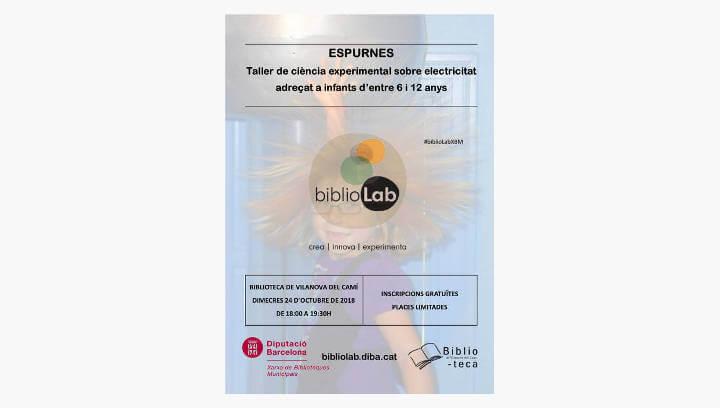 'Espurnes' al laboratori de ciència, innovació i creativitat BiblioLab de Vilanova del Camí