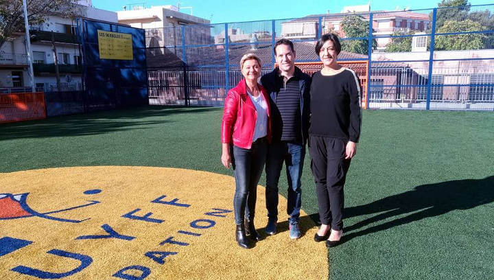 Noemí Trucharte cerca la complicitat de la Fundació Cruyff per construir un Cruyff Court a Vilanova del Camí