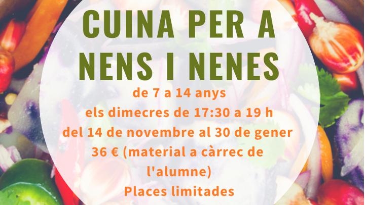 Un taller de cuina per a nens i nenes al Centre Cívic barri de la Pau