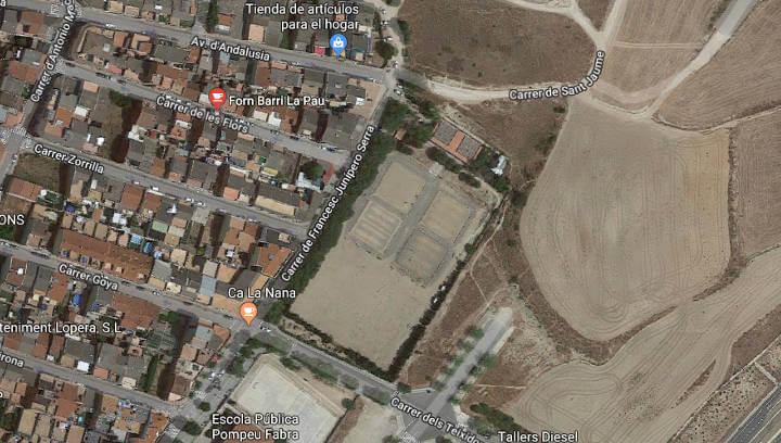 El barri La Pau guanyarà un nou espai esportiu i de lleure amb pista de vòlei platja, tirolina, joc d'escalada i pista multijoc