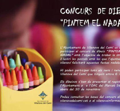 L'Ajuntament de Vilanova del Camí convida la quitxalla a fer el dibuix de la postal de Nadal