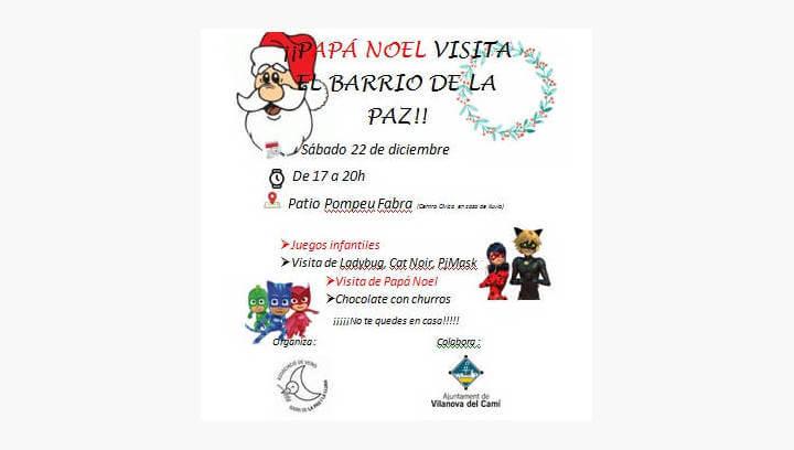 Ladybug, Cat Noir, PJ Masks i el Pare Noel visitaran el barri La Pau el proper dissabte