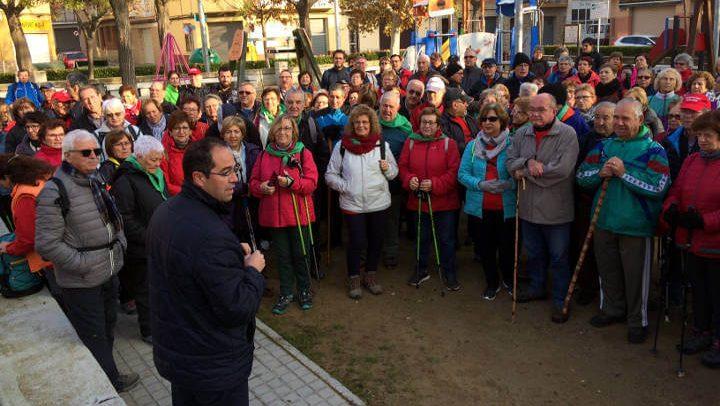 Comença un nou cicle de passejades 'A cent cap als cent' i Vilanova del Camí és municipi amfitrió en la primera sortida   FOTOS