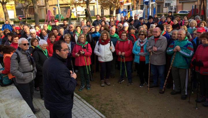 Comença un nou cicle de passejades 'A cent cap als cent' i Vilanova del Camí és municipi amfitrió en la primera sortida | FOTOS