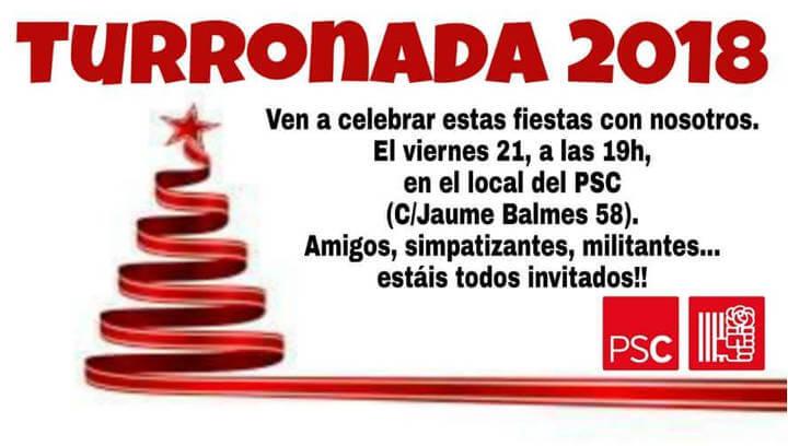 Torronada nadalenca entre els militants i simpatitzants del PSC Vilanova