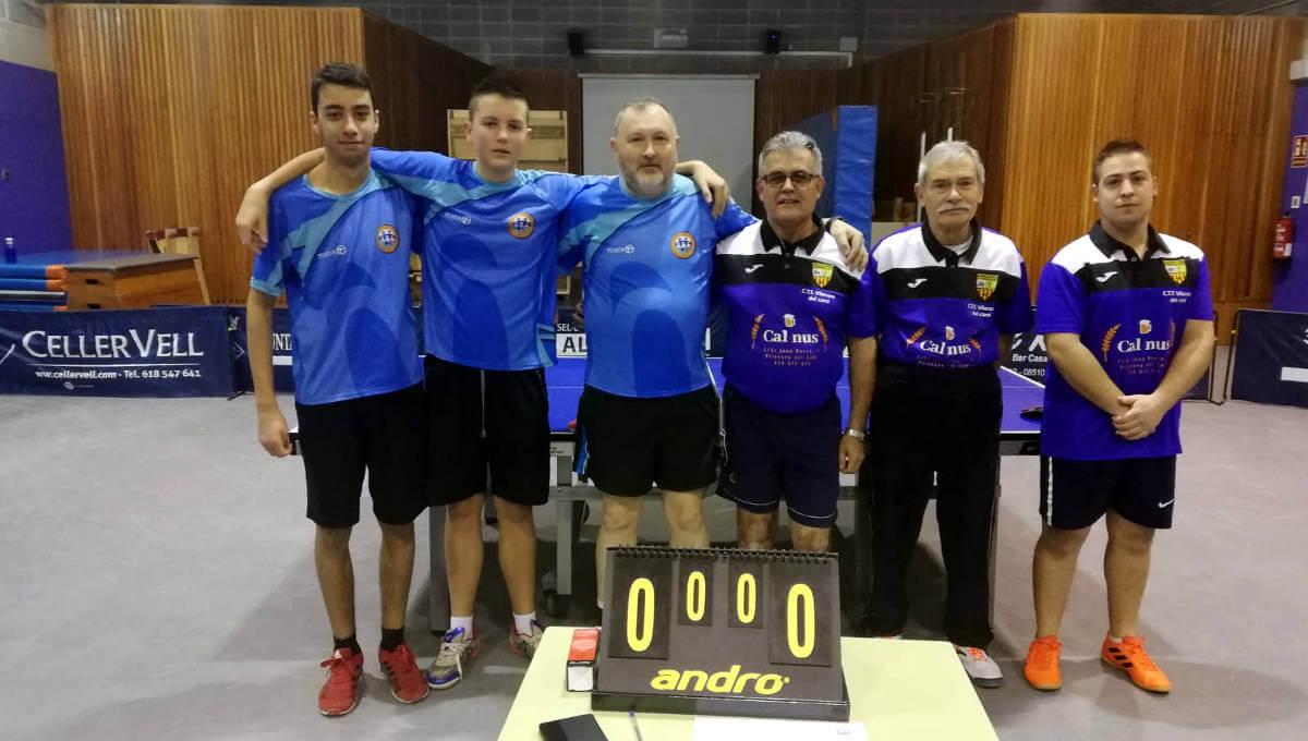 El CTT Vilanova s'emporta una difícil victòria de casa del CTT Roda de Ter per un ajustat 3 a 4