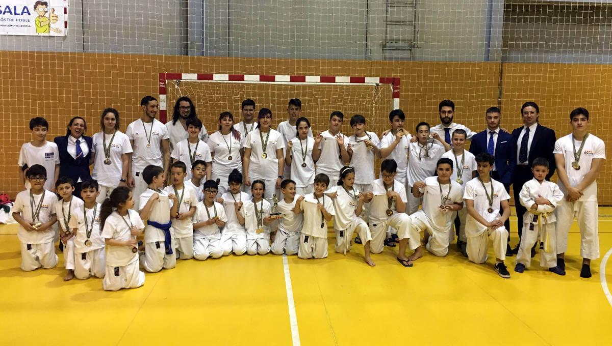 El CE Budokan Vilanova aconsegueix or a totes les categories en el Campionat Interautònomic de Nihon Tai-Jitsu