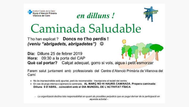 S'han iniciat les Caminades saludables de l'any 2019 a Vilanova del Camí