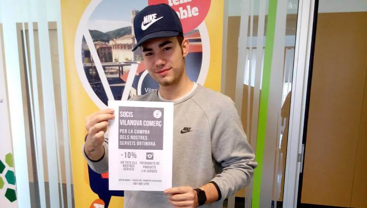 Vilanova Comerç i l'empresa Infinity col·laboren per donar visibilitat al comerç local