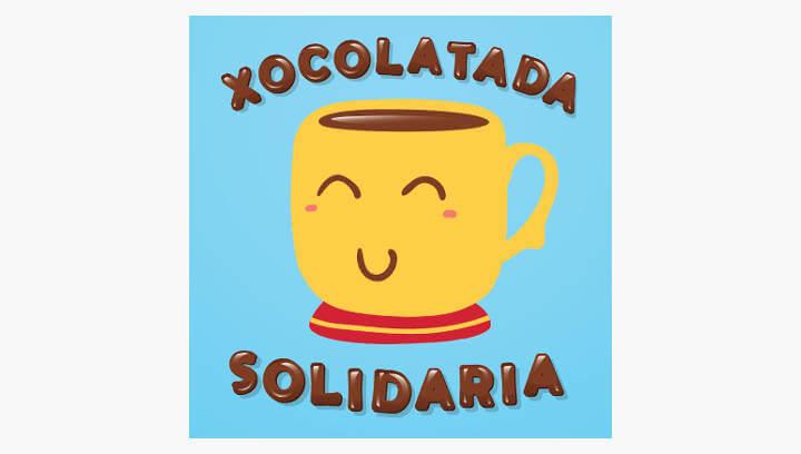 Joan Maragall i Marta Mata també 'es taquen' amb la xocolatada solidària pel càncer infantil