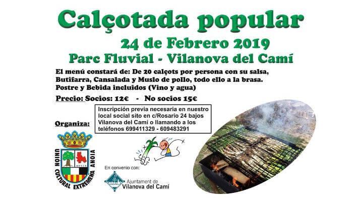 La Unión Cultural Extremeña Anoia organitza una calçotada popular al Parc Fluvial