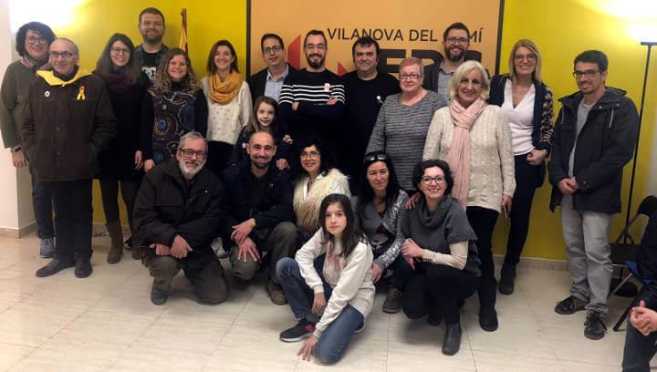 ERC estrena local al carrer Sant Josep de Vilanova del Camí com a 'espai de sintonia amb la societat civil'