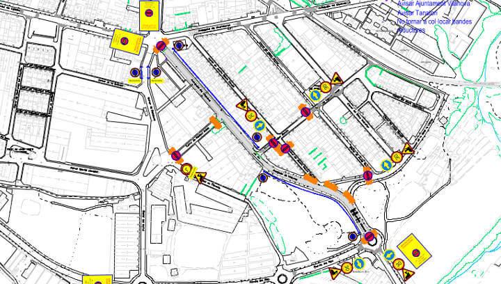 Les obres d'asfalt de l'avinguda Vilanova implicarà incidències en el trànsit
