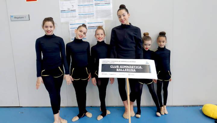 Gran estrena del Club Gimnàstic Ballerina a la 1a jornada comarcal de gimnàstica rítmica individual i conjunts