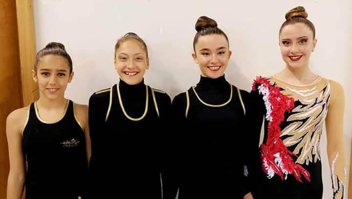 Podi del Club Gimnàstic Ballerina a la 2a Fase Copa Catalana Base de Gimnàstica Rítmica individual