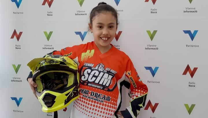 La vilanovina Irune Bernal, jove pilot promesa de motocròs, s'incorpora a l'SCIM Manresa | ÀUDIO