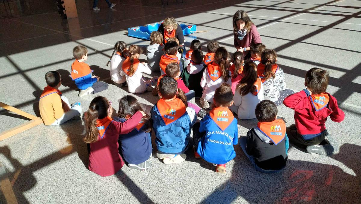 Escolars de 1r dels centres vilanovins estrenen activitat conjunta: 'Juguem i Aprenem' | FOTOS