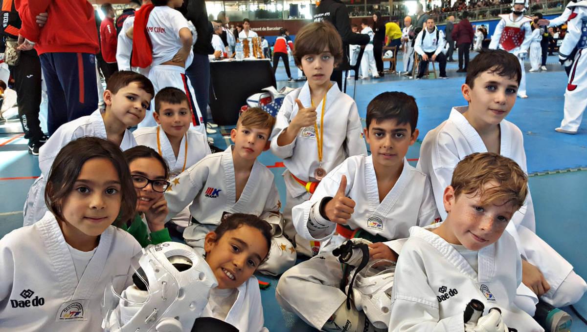Sis medalles per al Furio Jol Vilanova al Campionat Catalunya Infantil de Taekwondo