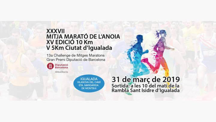 La 37a Mitja Marató de l'Anoia recupera la cursa dels 5 km pensada per a corredors novells i atletes ràpids