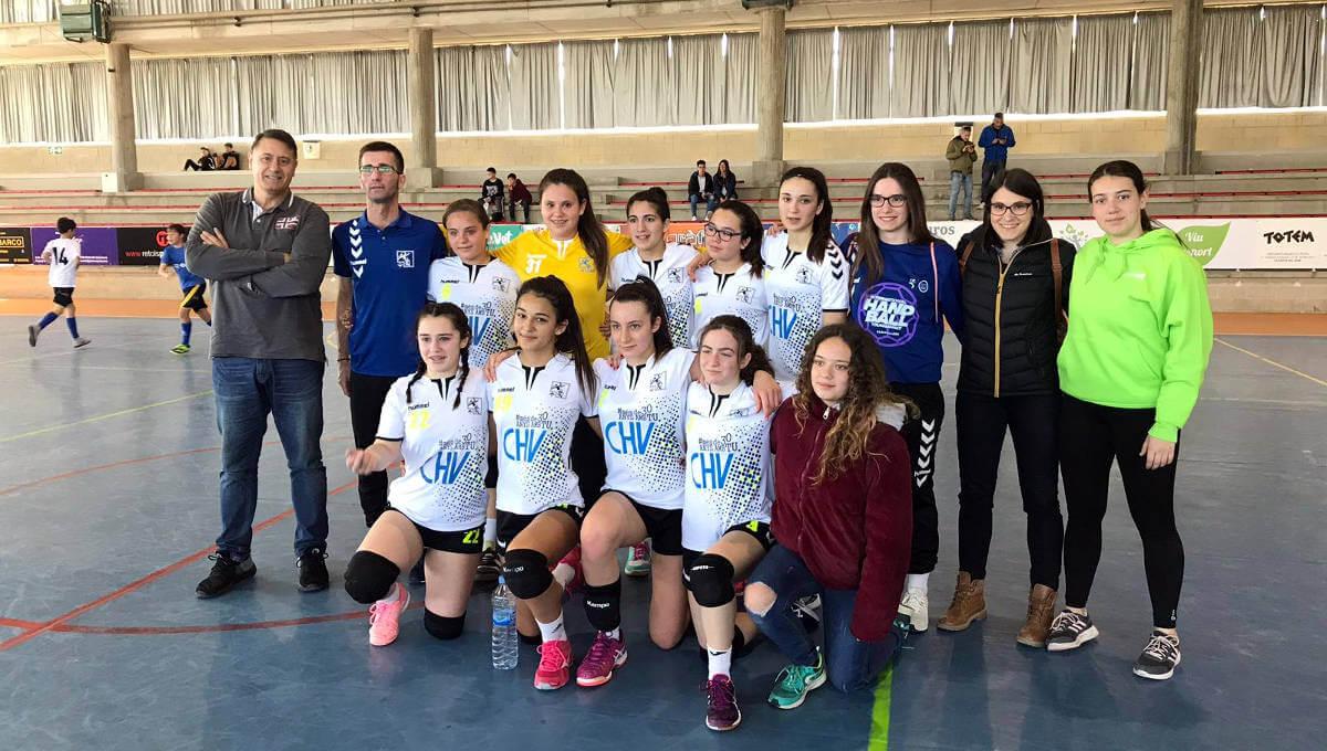 L'equip infantil del CH Vilanova exhibeix constància i es col·loca primer de lliga, durant la visita del president Fort