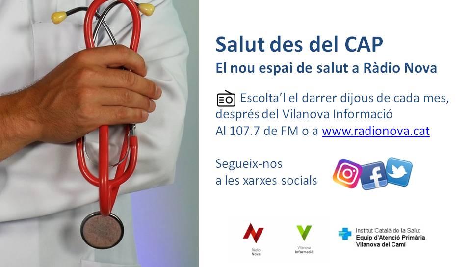 """Ràdio Nova i l'EAP de Vilanova del Camí estrenen l'espai """"Salut des del CAP"""" per divulgar temes de salut"""