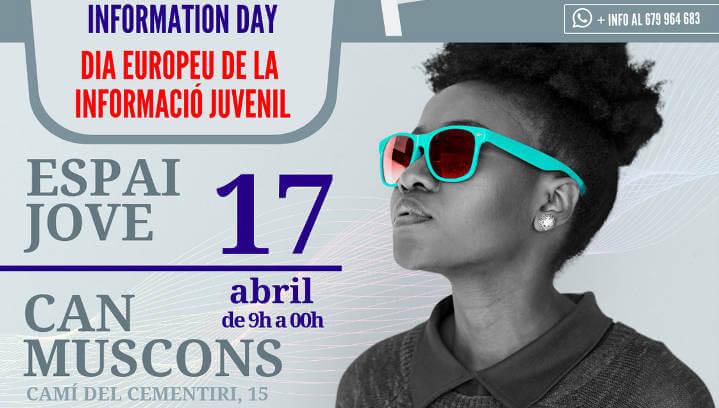 El 17 d'abril l'Espai Jove celebra el Dia Europeu de la Informació Juvenil a Can Muscons