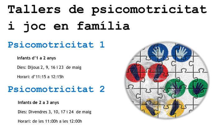 El Cireret obre inscripcions per al taller de psicomotricitat i jocs en família i de massatge infantil
