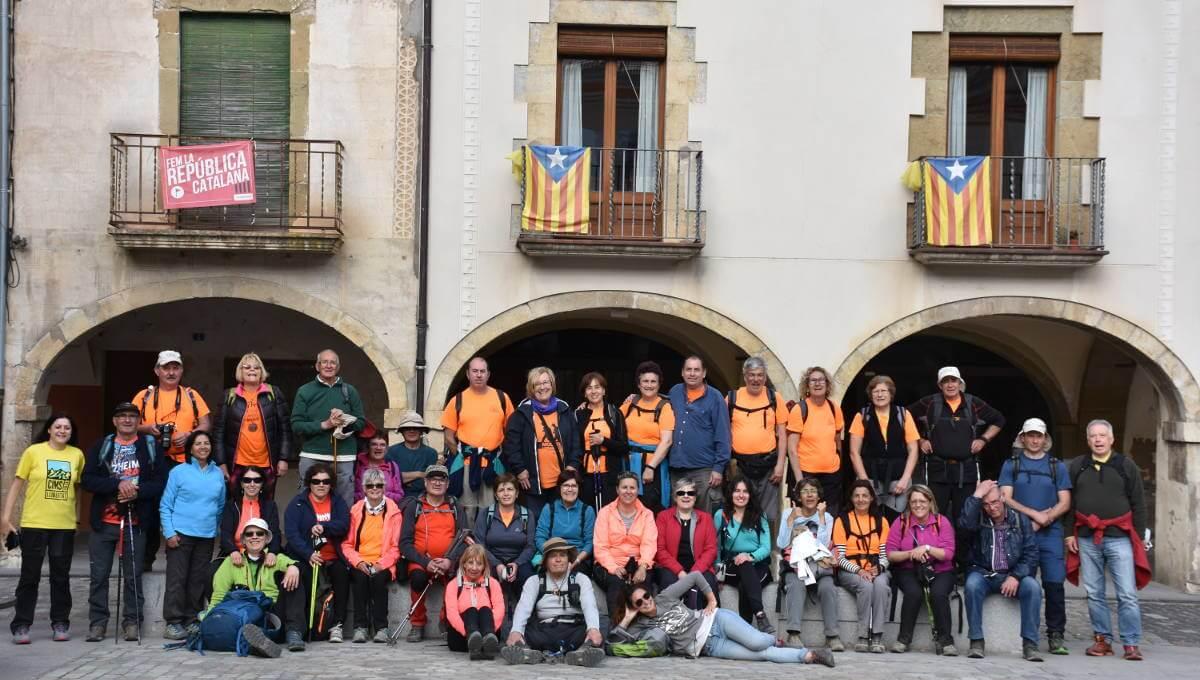 La Colla Excursionista fa la 5a etapa del Camí de Sant Jaume (Girona-Amer)