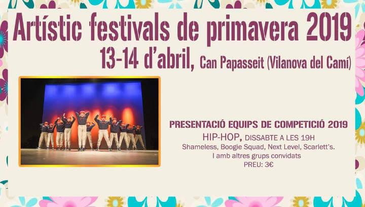 Artístic presenta aquest cap de setmana el Festival de Primavera amb hip hop, cant i teatre
