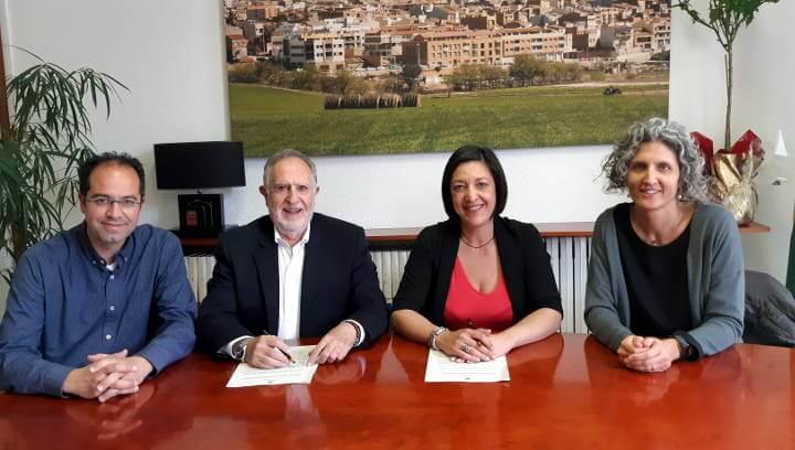 L'Ajuntament de Vilanova i Polígons dels Plans renoven el compromís per a la dinamització dels polígons