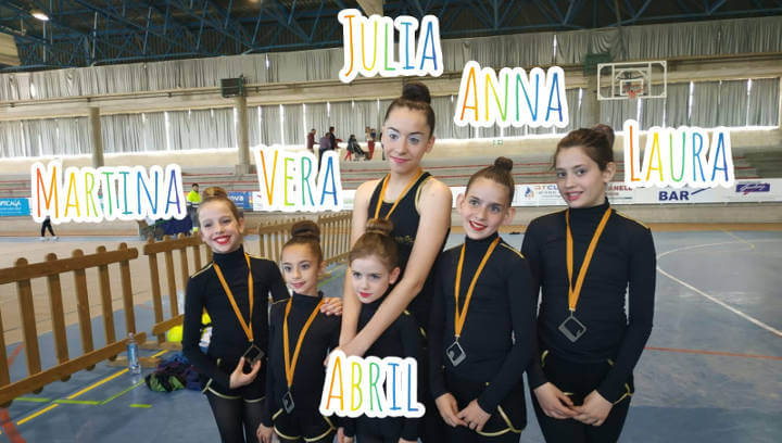 Cap de setmana intens del Club Gimnàstic Ballerina amb els jocs escolars de l'Anoia i el II Trofeu de Rítmica Prat