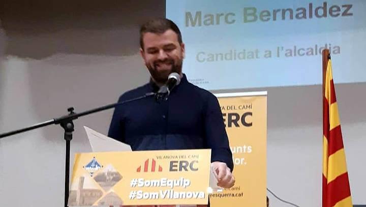 ERC presenta Marc Bernàldez, candidat a l'alcaldia de Vilanova del Camí, i el seu equip