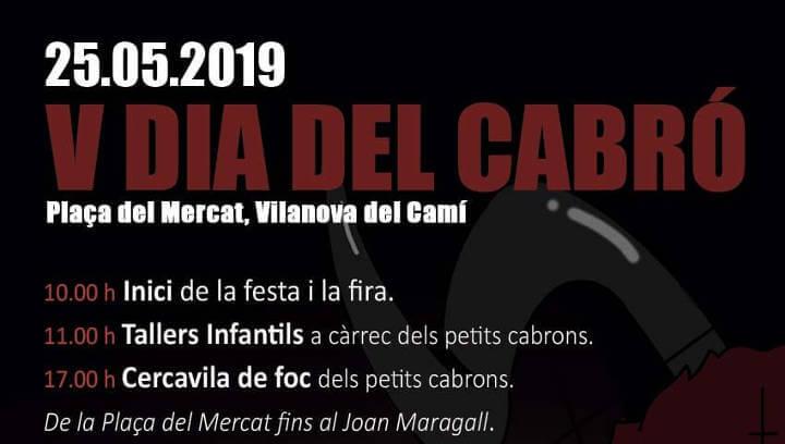 Els Cabrons de Vilanova celebren dissabte el cinquè Dia del Cabró amb diferents actes a la plaça del Mercat