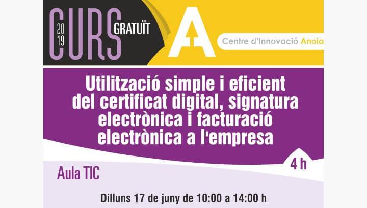 Promoció Econòmica programa un nou curs sobre el funcionament i l'ús del certificat digital i la signatura electrònica