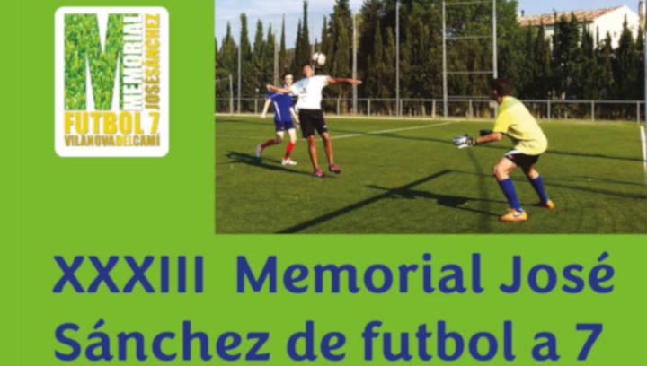 Obertes les inscripcions al XXXIIIè Memorial José Sánchez de Fútbol 7