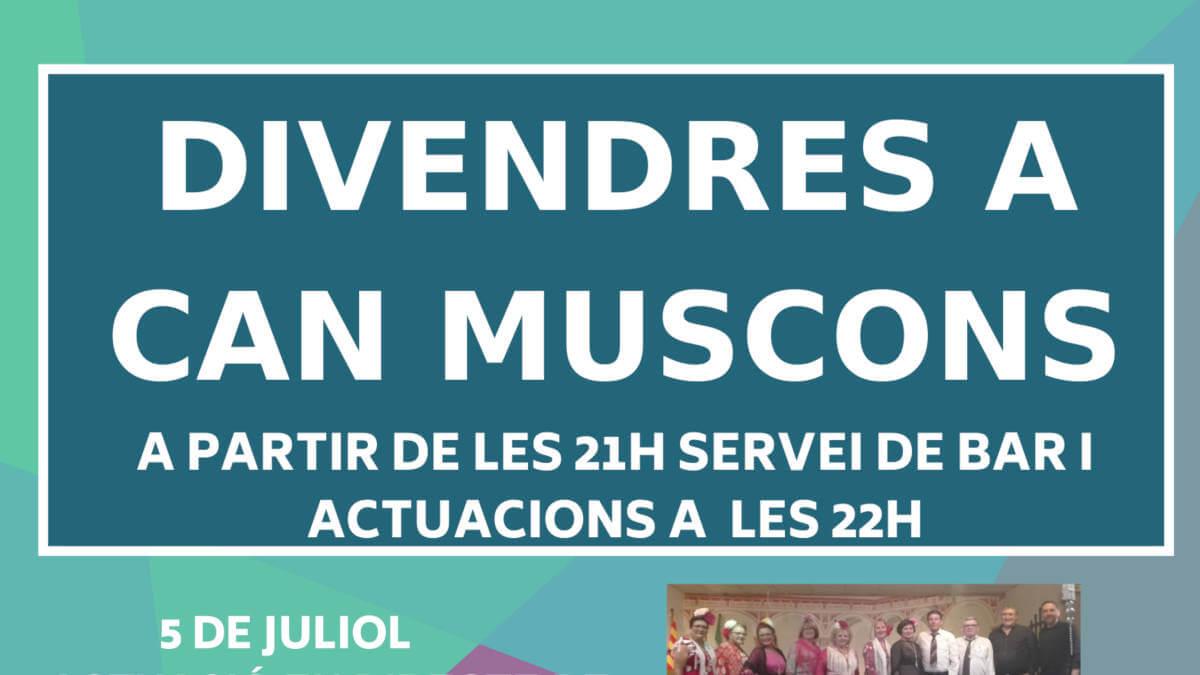 L'Ajuntament convida la ciutadania a gaudir dels divendres de juliol a Can Muscons amb música, monòlegs i màgia
