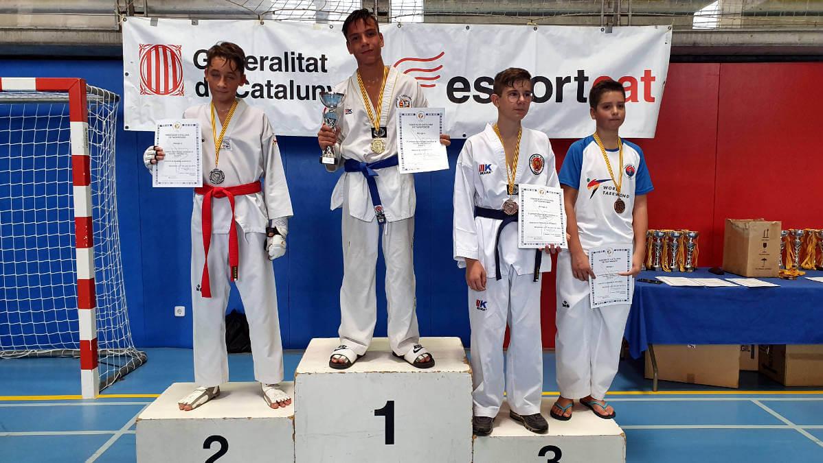 Alberto Fernández del Furio Jol es fa amb l'or al Campionat de Catalunya de taekwondo de promoció cadet
