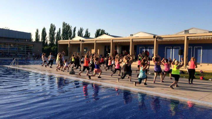 La Masterclas d'aeròbic enceta el Manteniment a la fresca a la piscina de Can Titó
