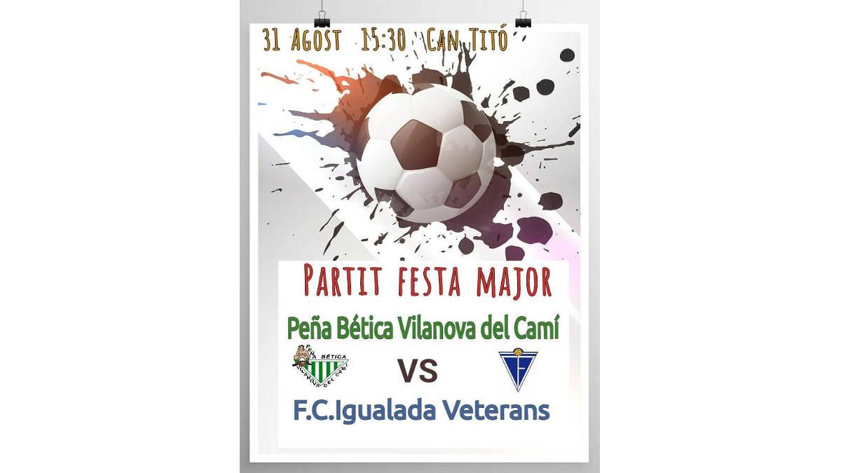 Aquest dissabte, tarda de futbol a Can Titó amb la Peña Bètica i els Veterans del CF Igualada
