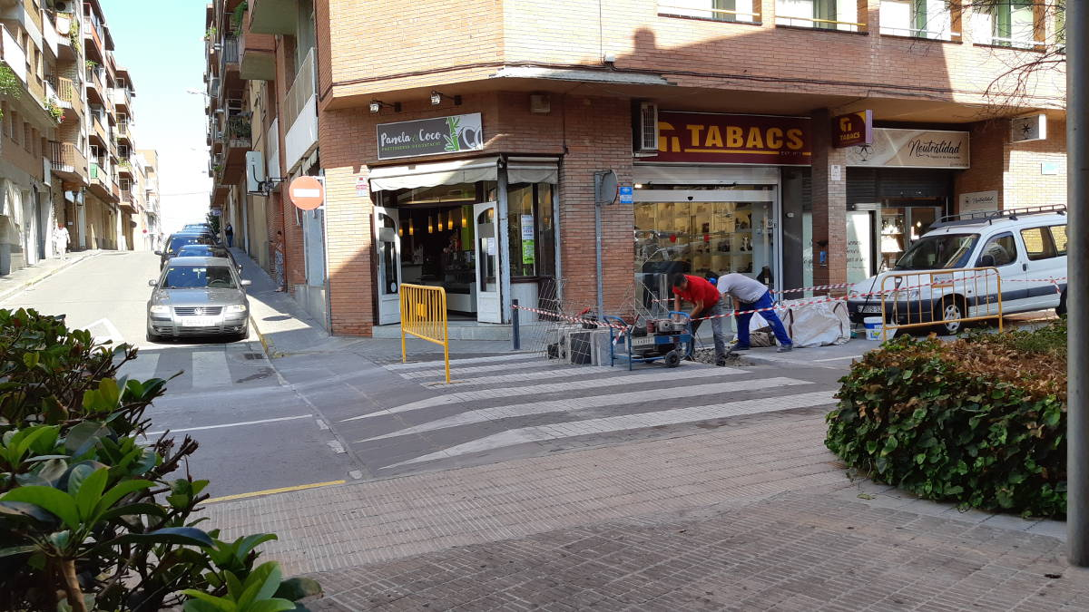 Obres de millora obligaran a tallar el carrer Verge de Montserrat en un sentit de la marxa fins divendres