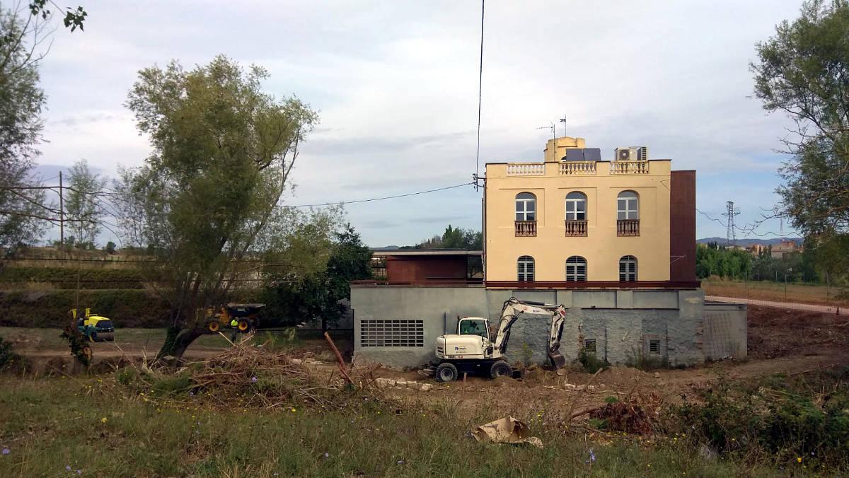 Comencen les obres d'urbanització exterior de Can Muscons